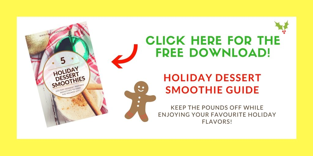Get instant access to this FREE holiday dessert smoothie recipe guide. It's a delicious compilation of some of your absolute favorite holiday flavors to help you keep the pounds off!