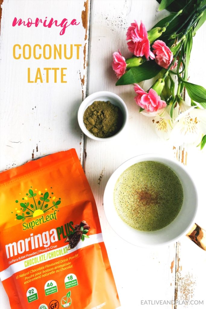 This energy boosting moringa latte is packed with over 90 nutrients, and 46 different antioxidants. Drink this moringa latte instead of your morning coffee or in your jammies on a Sunday afternoon!