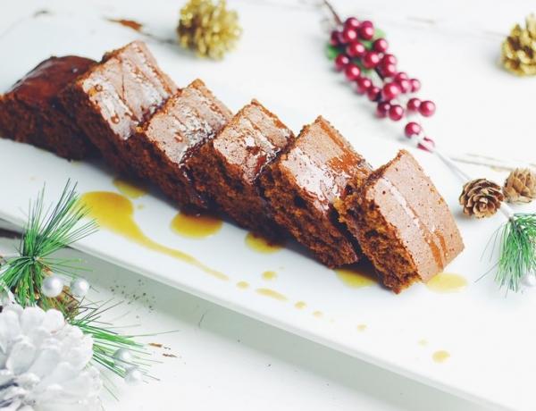 Gingerbread Cake with Warm Caramel Glaze