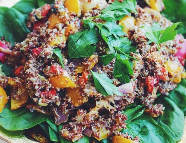 Roasted Fruit and Veggie Quinoa Salad