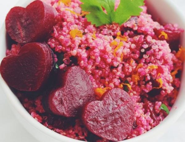 Sweet n' Sexy Pink Quinoa Salad